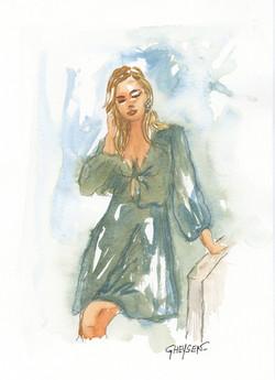 Aquarelle et dessin de mode