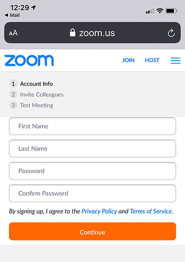 Zoom password