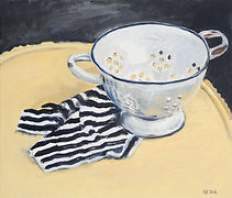 24. Colander, 2012, oil on canvas, 30 x