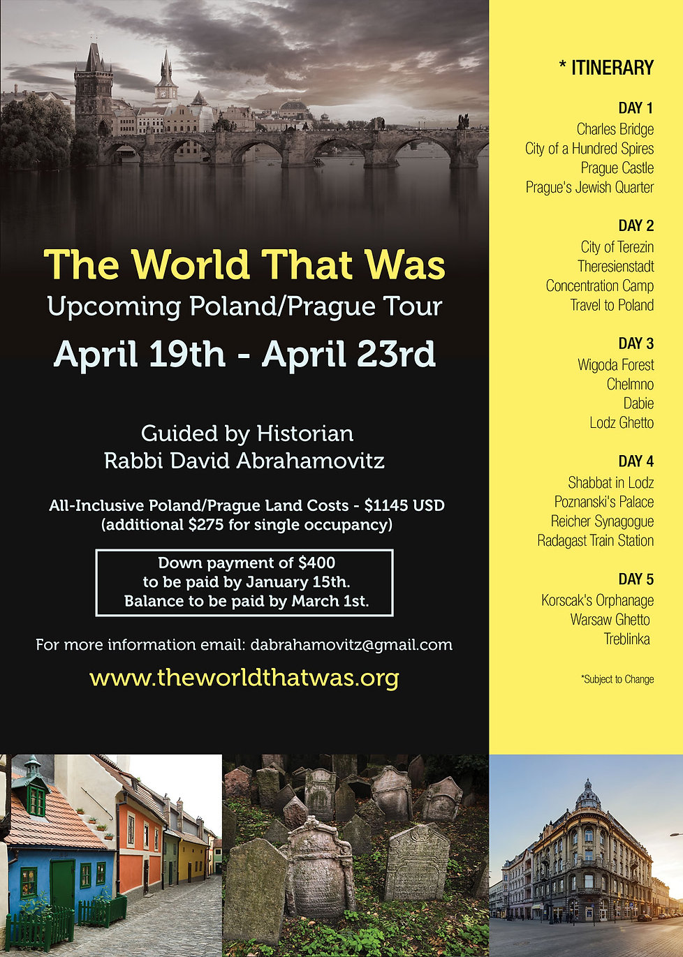 Jewish Holocaust Poland Tour
