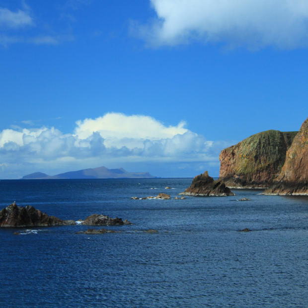 Looking out to Foula