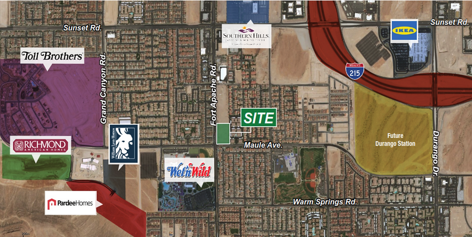 Map of development on northeast corner of Fort Apache & Maule in Las Vegas