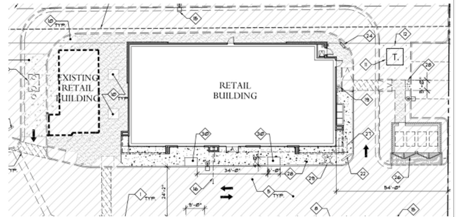 Available - pad next to Dutch Bros Coffee drive-thru on Eastern & Pebble in Las Vegas/Henderson site plan, commercial subdivision map