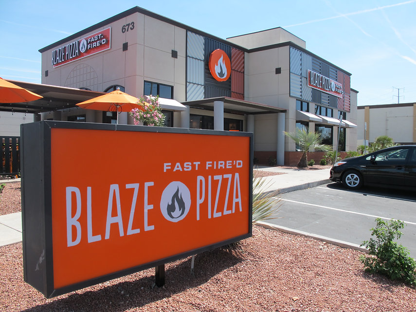 Completed redevelopment in retail center in Las Vegas/Henderson. Blaze Pizza is the tenant.