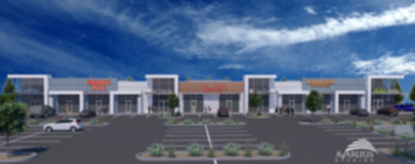 Under construction retail development on northeast corner of Fort Apache & Maule in Las Vegas. Will have a 7-Eleven fuel store and The Learning Experience childcare facility.