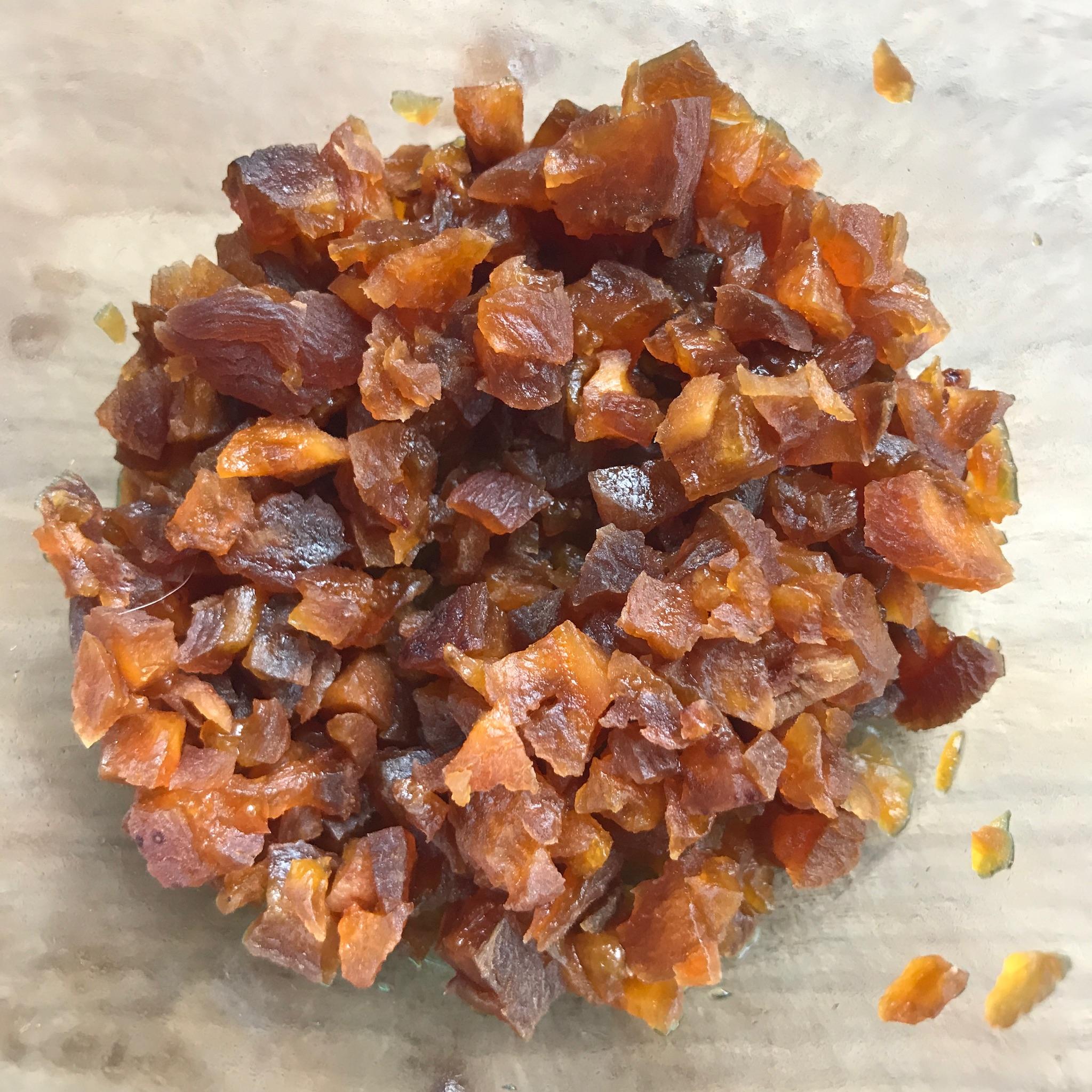abrikozen geweekt in oranjebloesemwater