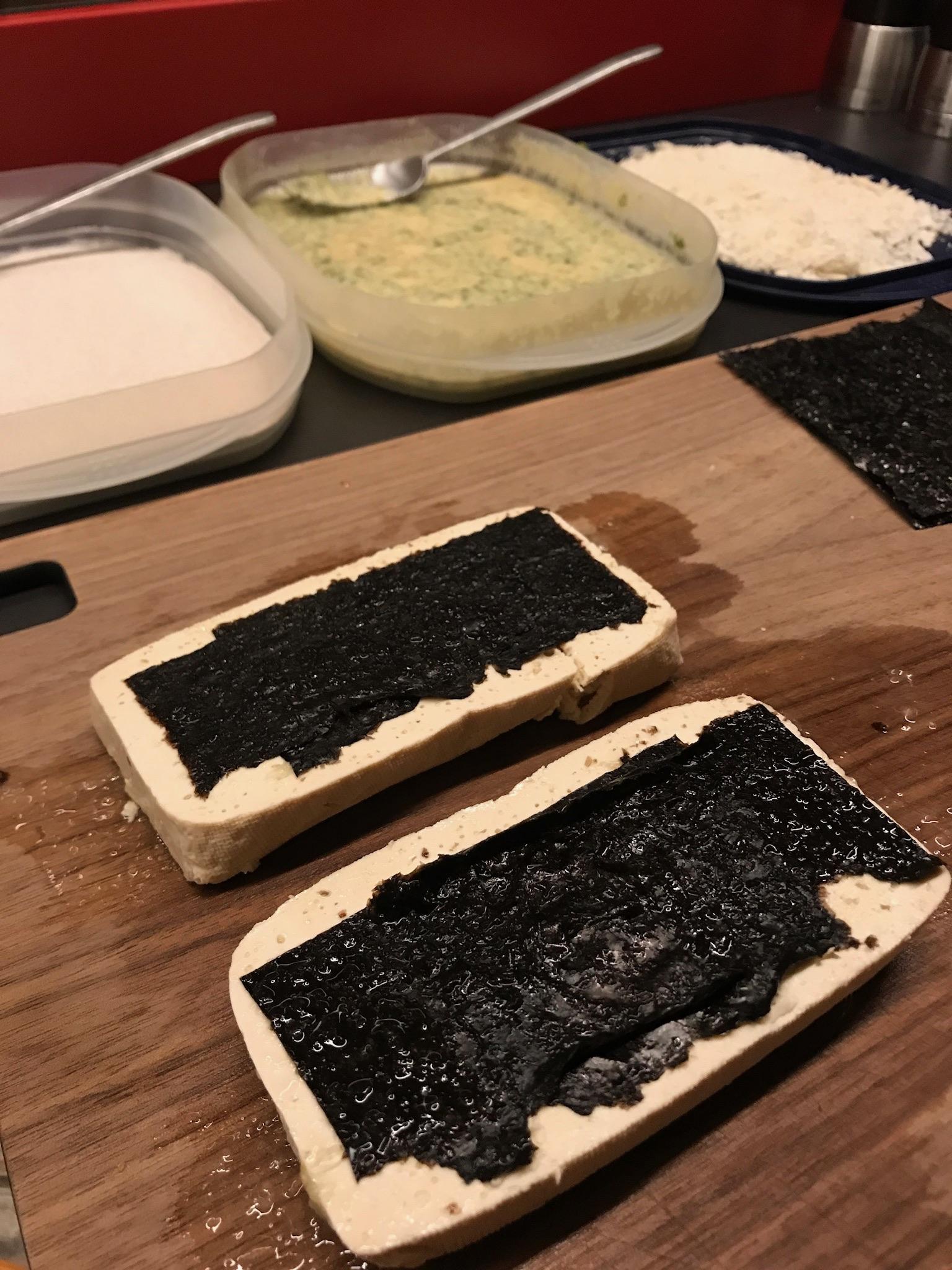 geperste tofu met nori