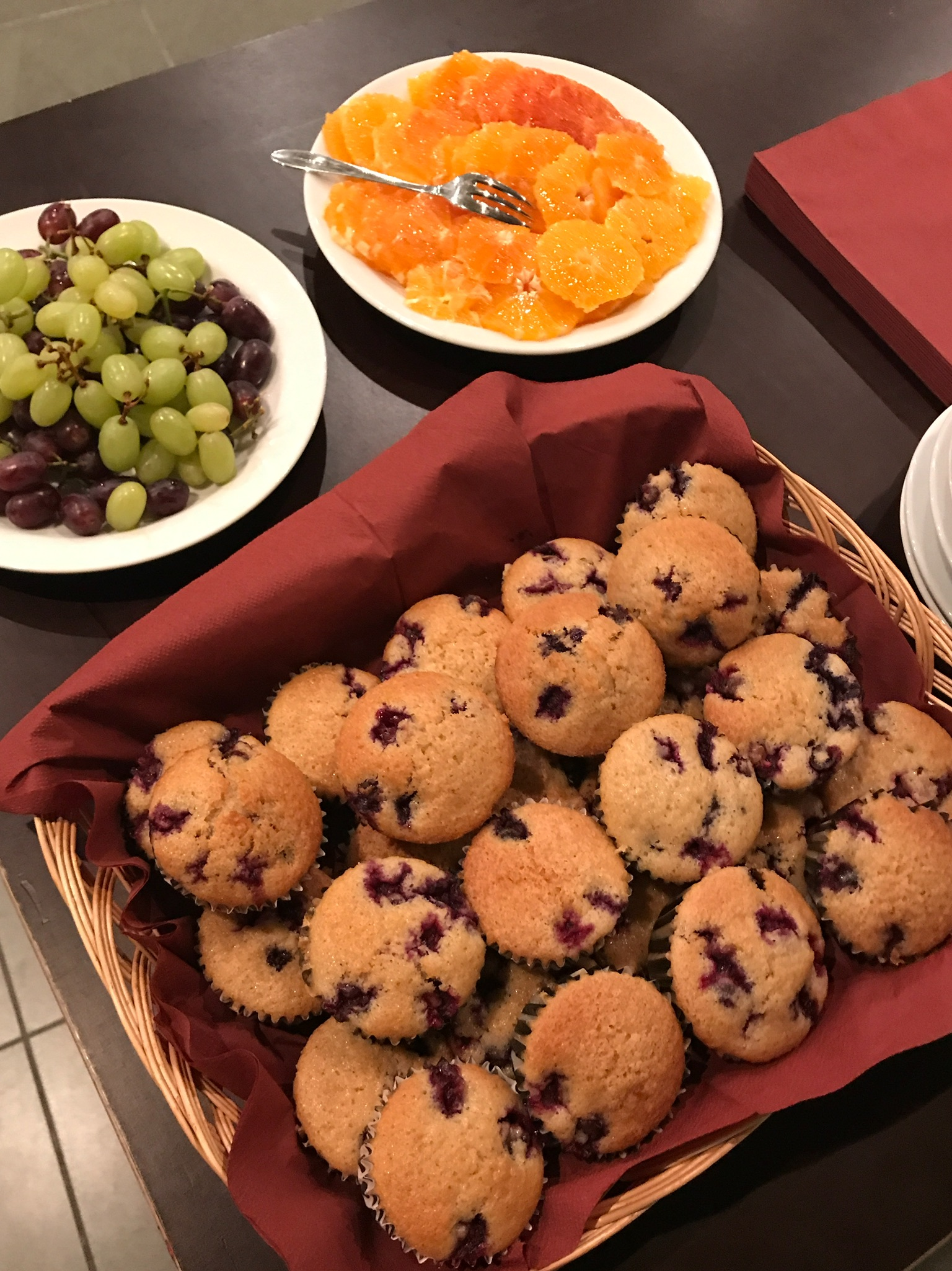 blueberry muffins - druiven - sinas