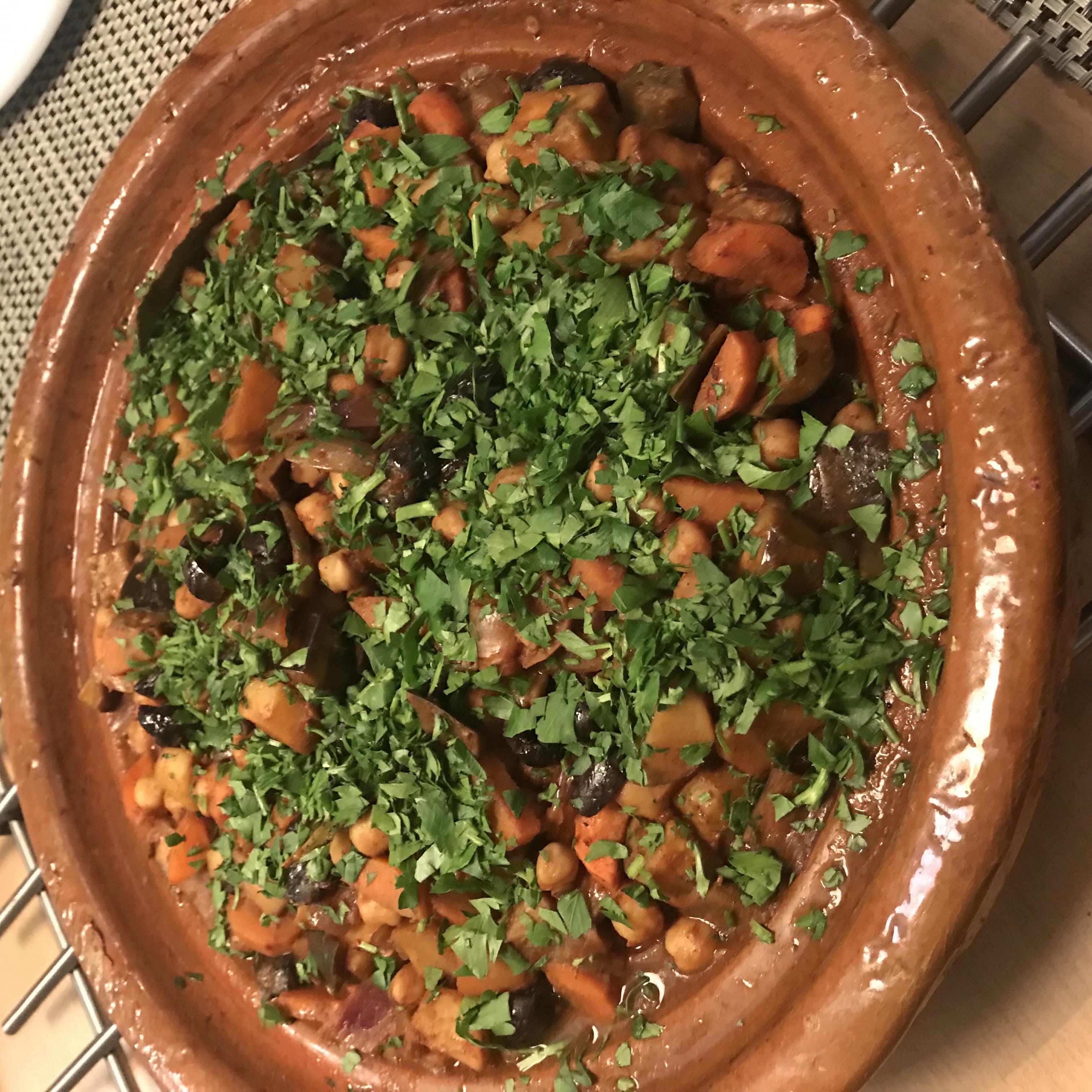Tajine met winterse groentjes en olijven