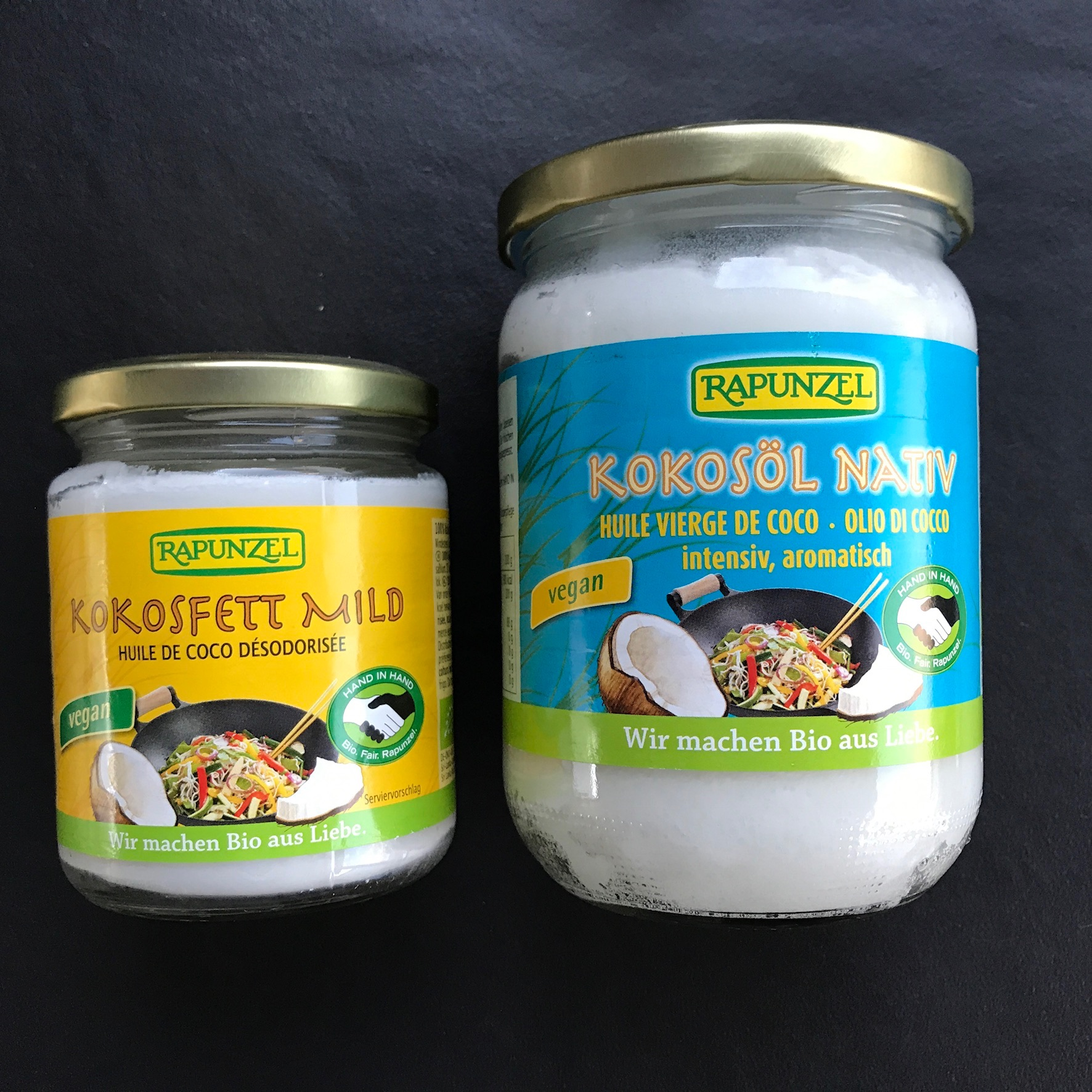 kokosolie, ontgeurd en standaard