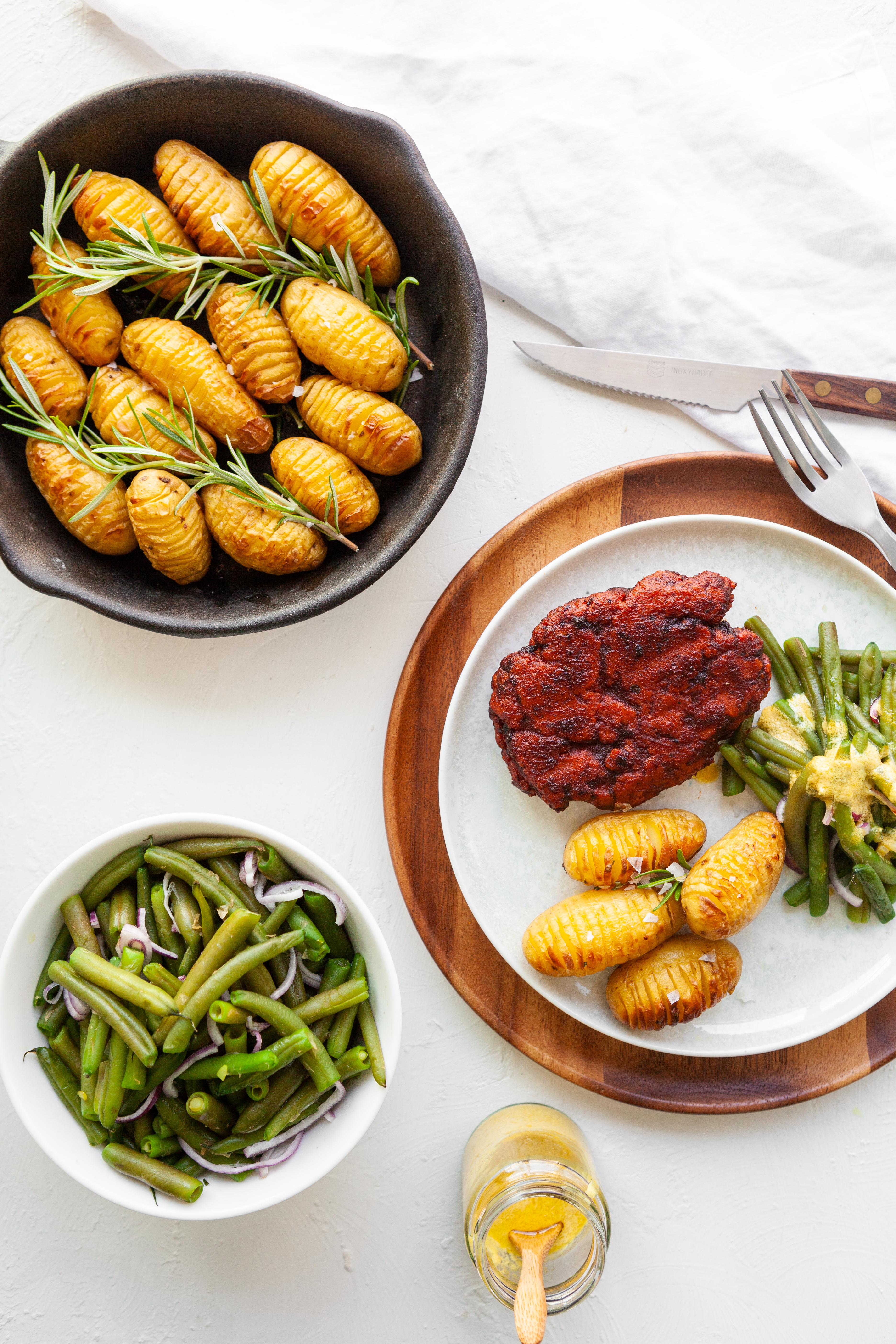 EVA magazine Winter 2019 - vegan voor vleeseters - Steack maison met rozemarijnpatatjes