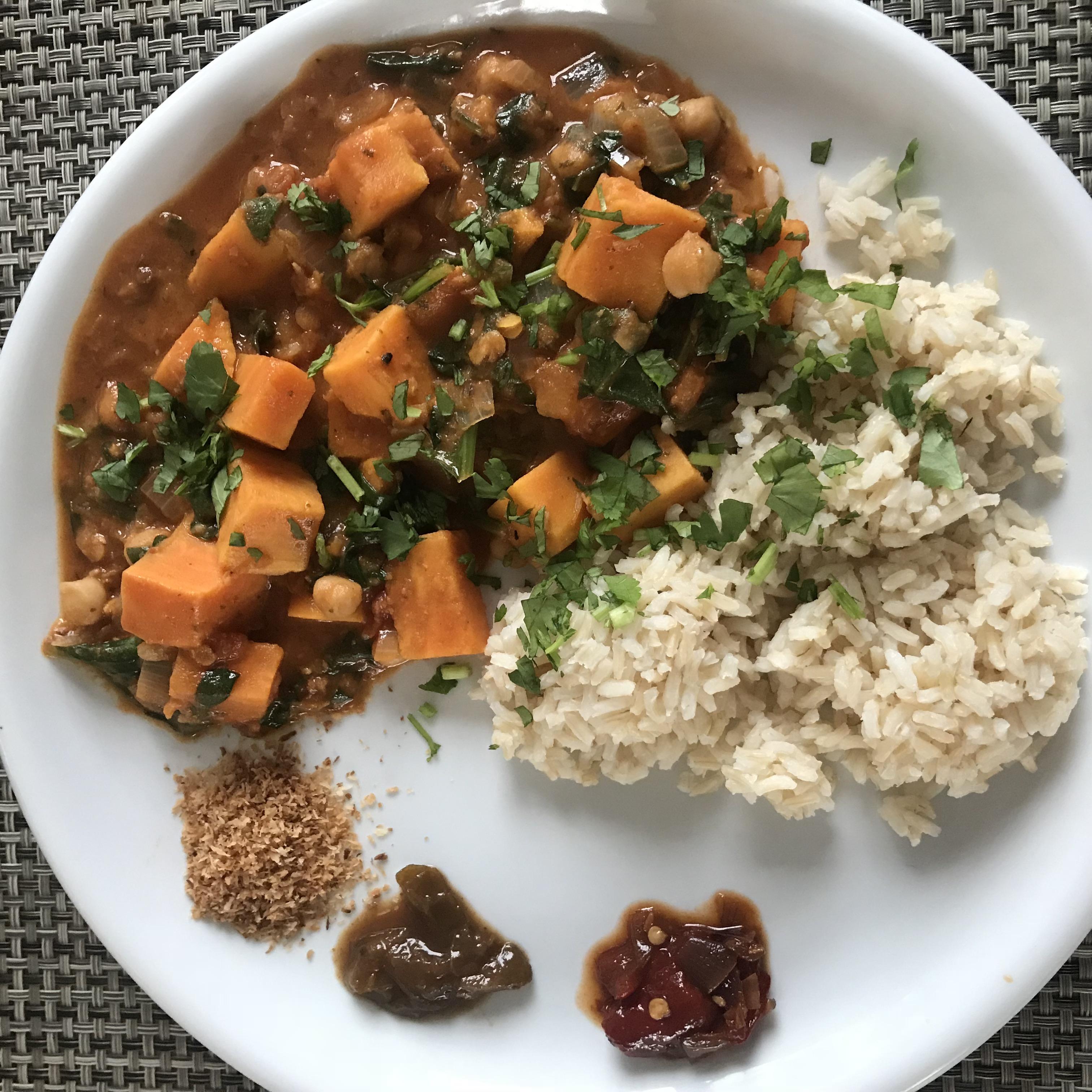 lekker bij een pittige curry