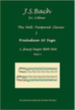 The Well- Temperd Clavier I, BWV 848, prelude & fugue, analysis in color with postgraduate level commentaries