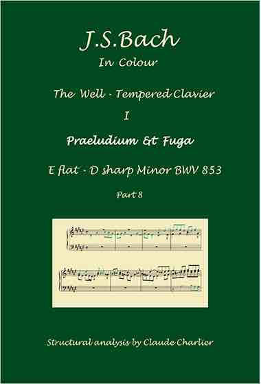 The Well-Tempered Clavier I, BWV 853, prelude & fugue, analysis in color with postgraduate level commentaries