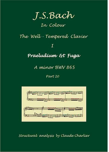 The Well-Tempered Clavier I, BWV 865, prelude & fugue, analysis in color with postgraduate level comentaries