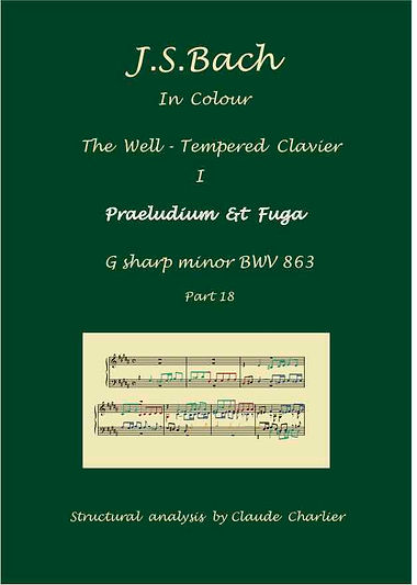 The Well-Tempered Clavier I, BWV 863, prelude & fugue, analysis in color with posygraduate level commentaries