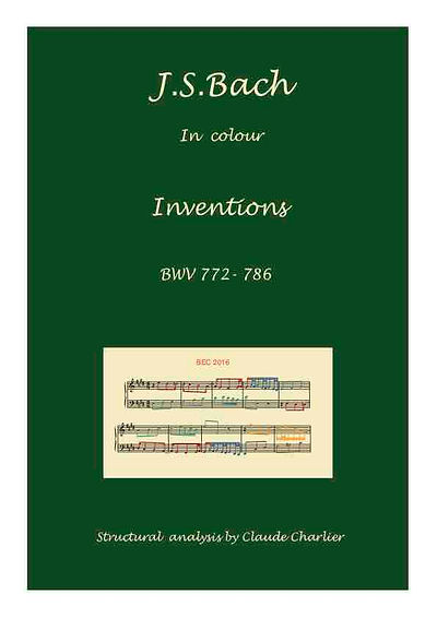 Inventions.BWV.772-786.analysis in colo with postgraduate level commentary