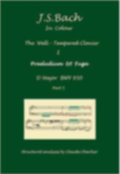 The Well-Tempered Clavier I, BWV 850, prelude & fugue, analysis in color with postgraduate level commentaries