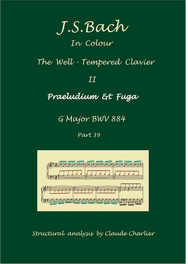 The Well-Tempered Clavier II, BWV 884, analysis in color with postgraduate level commentary