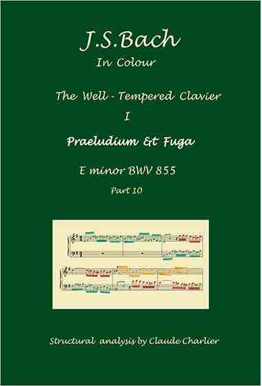 The Well-Tempered Clavier I, BWV 855, prelude & fugue, analysis in color with postgraduate level commentaries