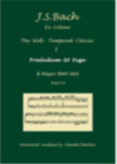 The Well-Tempered Clavier I, BWV 868, prelude & fugue, analysis in color with postgraduate level commentaries