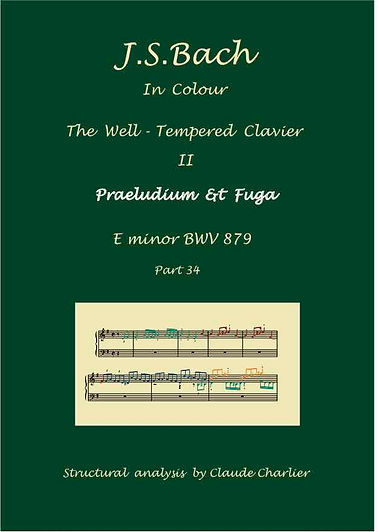 The Well-Tempered Clavier II, BWV 879, prelude & fugue, analysis in color with postgraduate level commentaries