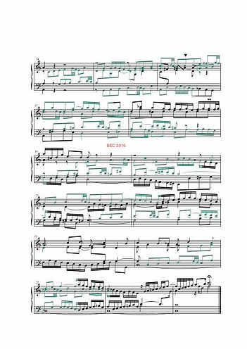 The Well- Tempered Clavier I, BWV 846, prelude & fugue and introduction, analysis in color with postgraduate level commentaries