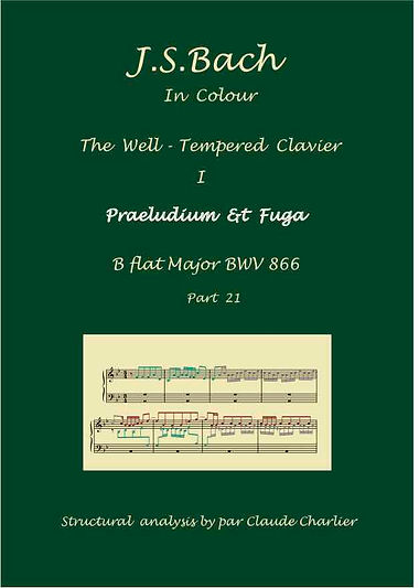 The Well-Tempered Clavier I, BWV 866, prelude & fugue, analysis in color with postgraduate level commentaries