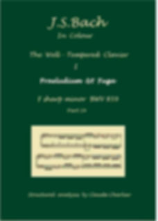 The Well-Tempered Clavier I, BWV 859, cover, analysis in color with postgraduate level commentaries
