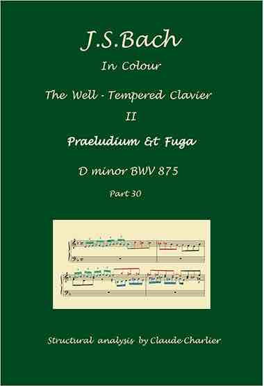The Well-Tempered Clavier II, BWV 875, prelude & fugue, analysis in color with postgraduate level commentaries