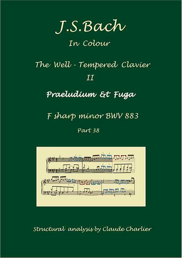 The well-Tempered Clavier II, BWV 883, analysis in color with postgraduate level commentary