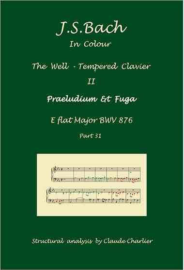 The Well-Tempered clavier II, BWV 876, prelude & fugue, analysis in color with postgraduate level commentaries