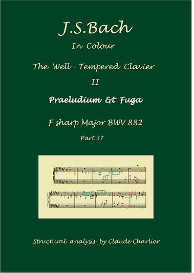 The Well-Tempered Clavier II, BWV 882, analysis in color with postgraduate level commentary