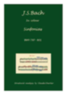 The sinfonias, BWV 787-801, analysis in color with postgraduate level commentaries