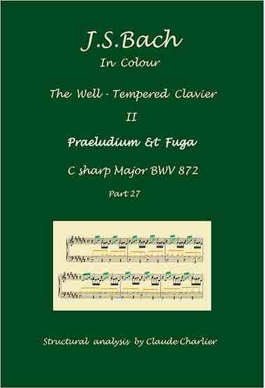 The Well-Tempered Clavier II, BWV 872, prelude & fugue, analysis in color with postgraduate level commentaries