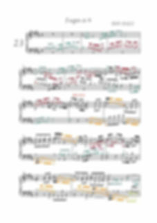 The Well-Tempered Clavier BWV 868, prelude & fugue, analysis in color with postgraduate level commentaries
