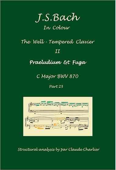 The Well-Tempered Clavier II, BWV 870, prelud & fugue, analysis in color with postgraduate level commentaries