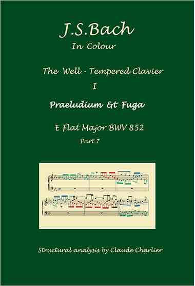 The Well-Tempered Clavier I, BWV 852, prelude & fugue, analysis in color with posgraduate level commentaries