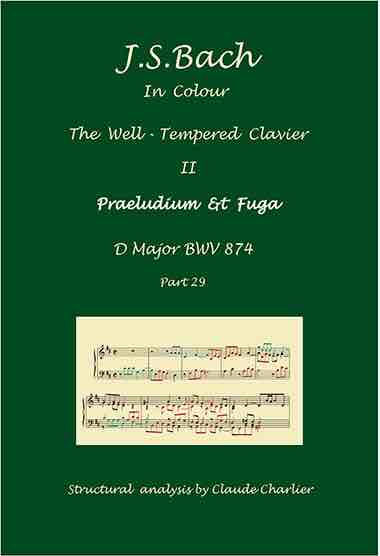 The Well-Tempered Clavier II, BWV 874, prelude & fugue, analysis in color with postraduate level commentaries