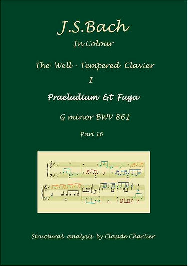 The well-Tempered clavier I, BWV 861, analysis in color with postgraduate level commentaries