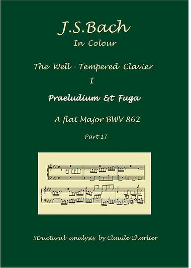 The Well- Tempered Clavier I, BWV 862, prelude & fugue, analysis in color with postgraduate level commentaries