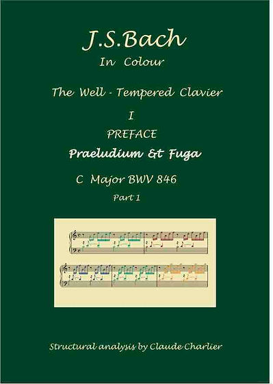 The Well-Tempered Clavier I, BWV 846, prelude & fugue and introduction, analysis in color with postgraduate level commentaries