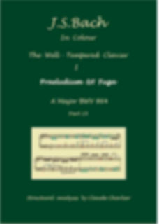 The Well-Tempered Clavier I, BWV 864, prelude & fugue, analysis in color with postgraduate level commentaries