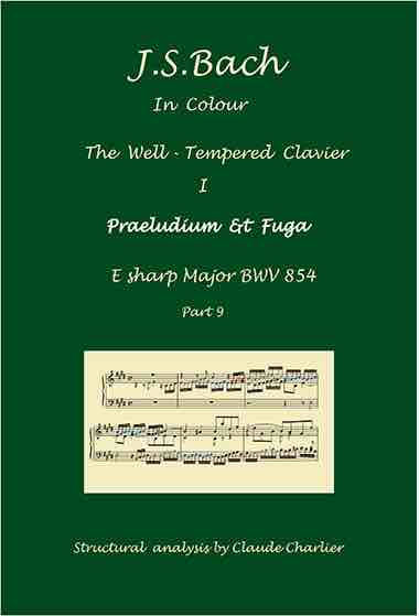 The Well-Tempered Clavier I, BWV 854, prelude & fugue, analysis in color with postgraduate level commentaries