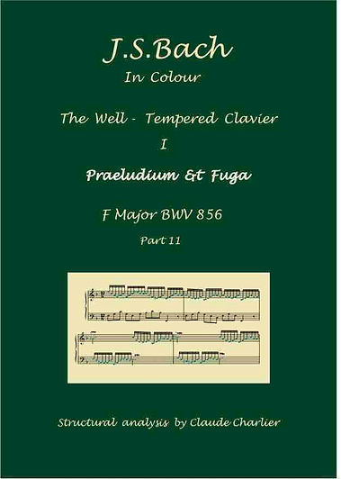The Well-Tempere Clavier I, BWV 856, prelude & fugue, analysis in color with postgraduate level commentaries