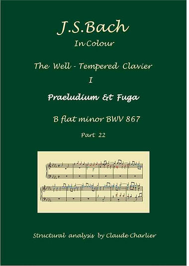 The Well-Tempered Clavier I, BWV 867, prelude & fugue, analysis in colorwith postgraduate level commentaries