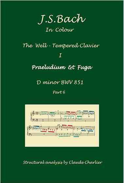 The Well- Tempered Clavier I, BWV 851, prelude & fugue, analysis in color with postgraduate level commentaries