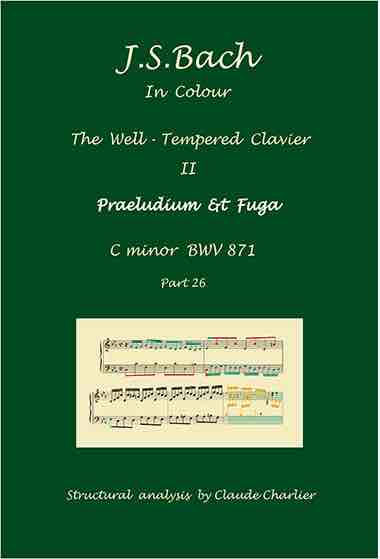 The Well-Tempered Clavier II, BWV 871, prelude & fugue, anaysis in color with postgraduate level commentaries