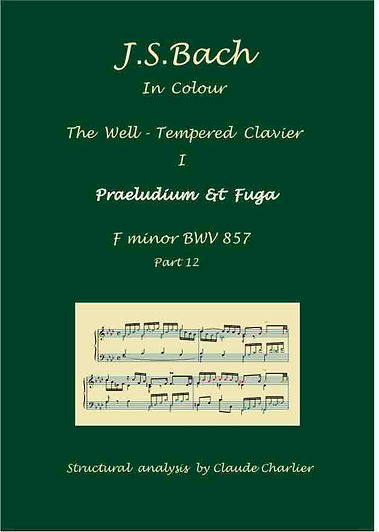 The Well-Tempered Clavier I, BWV 857, prelude & fugue, analysis in color with postgraduate level commentaries