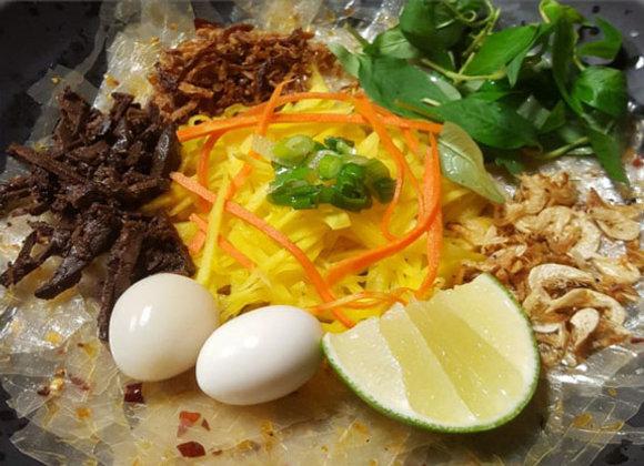 Rice paper salad (Banh trang tron)